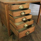 Edwardian ERVIII Vintage Oak Drop Leaf Desk (1 of 2)