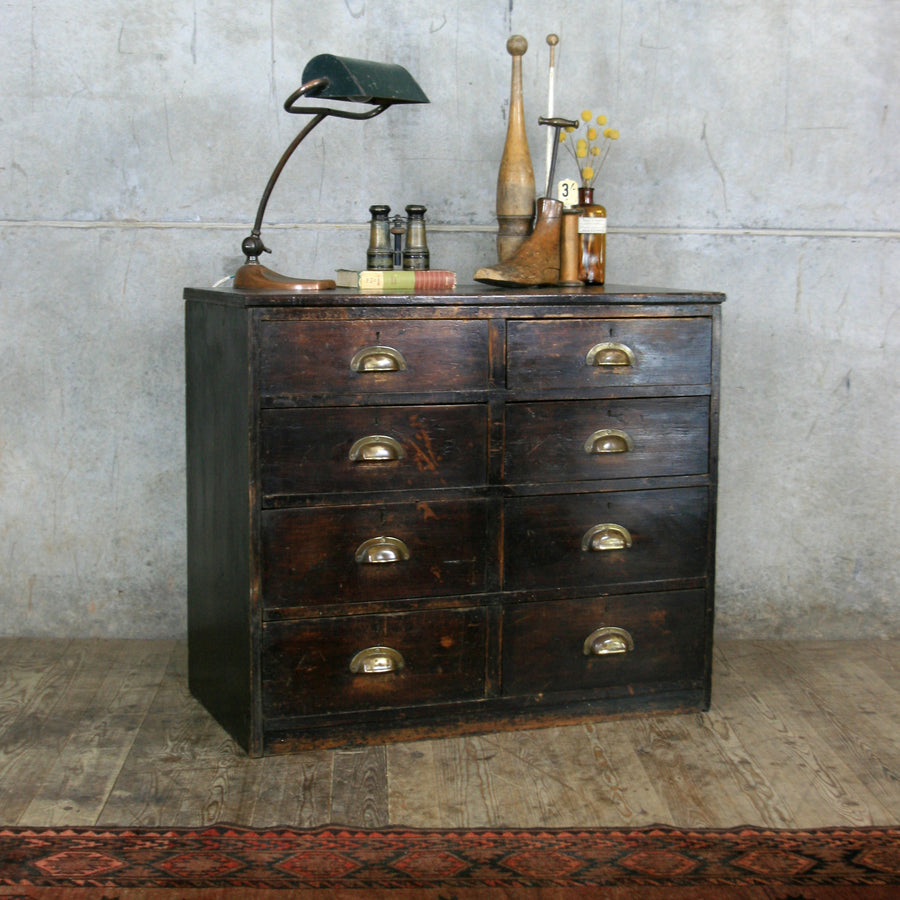 vintage_edwardian_pine_ebonised_chest_of_drawers.2