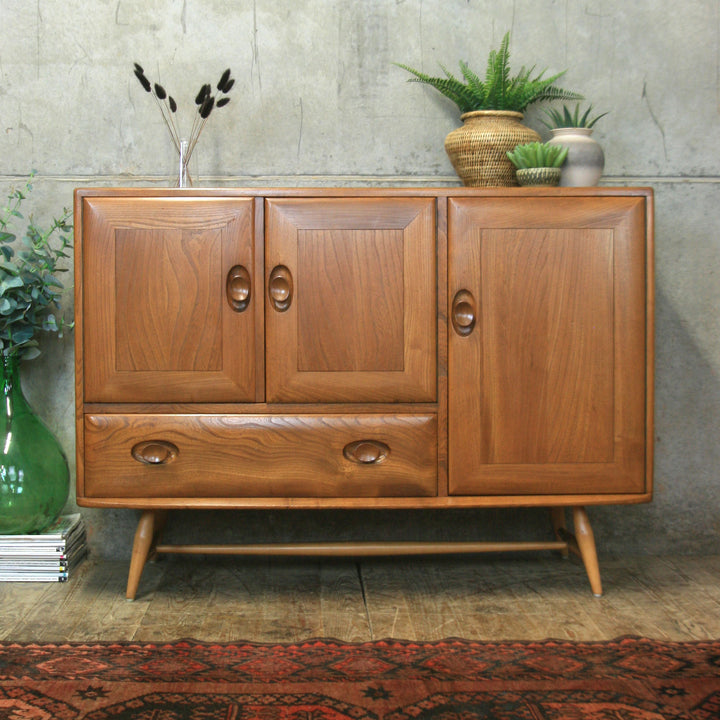 Mid Century Ercol Model 366 Windsor Sideboard - 1709e