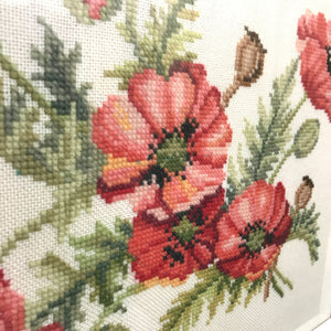 Vintage Framed Needlework - 'Poppies'
