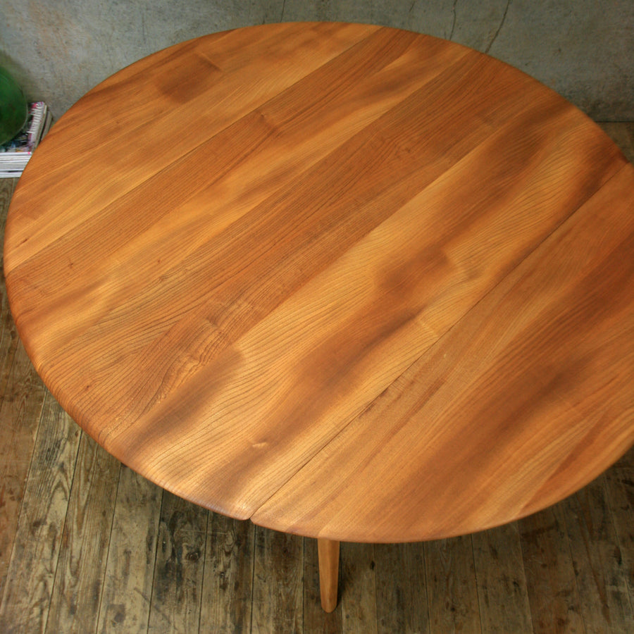 Mid Century Ercol Model 384 Drop Leaf Dining Table - 0212a