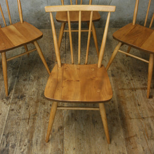 X4 Set of Four Vintage Ercol Model 391 Chairs -1308e