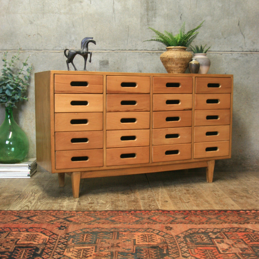 Mid Century Esavian James Leonard School Drawers -2112e