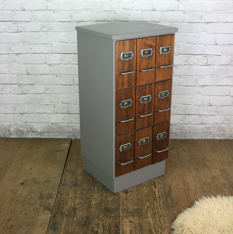 Mid Century Index / Filing Cabinet Drawers