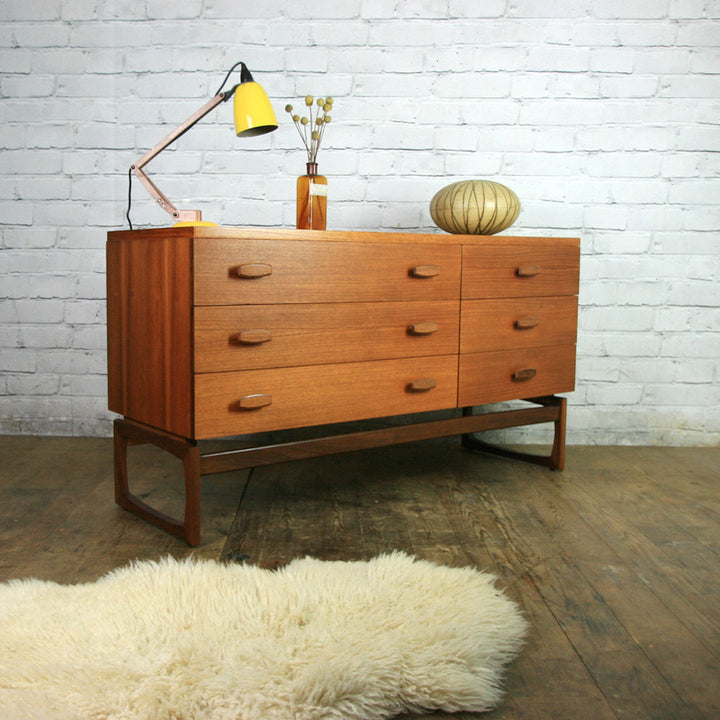 G Plan Large Quadrille Teak Chest of Drawers #1