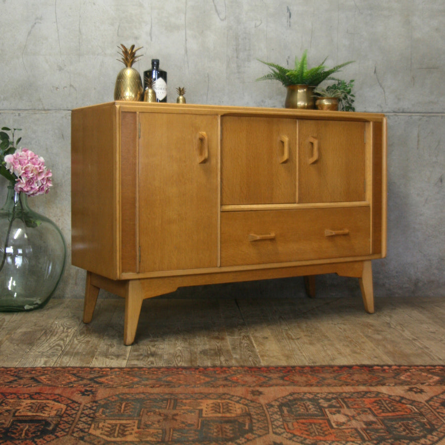 Mid Century G-Plan Brandon Oak Small Sideboard #0618