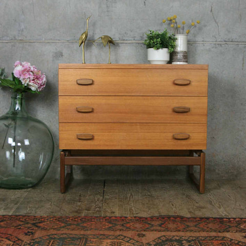 Mid Century G-Plan Quadrille Teak Chest of Drawers