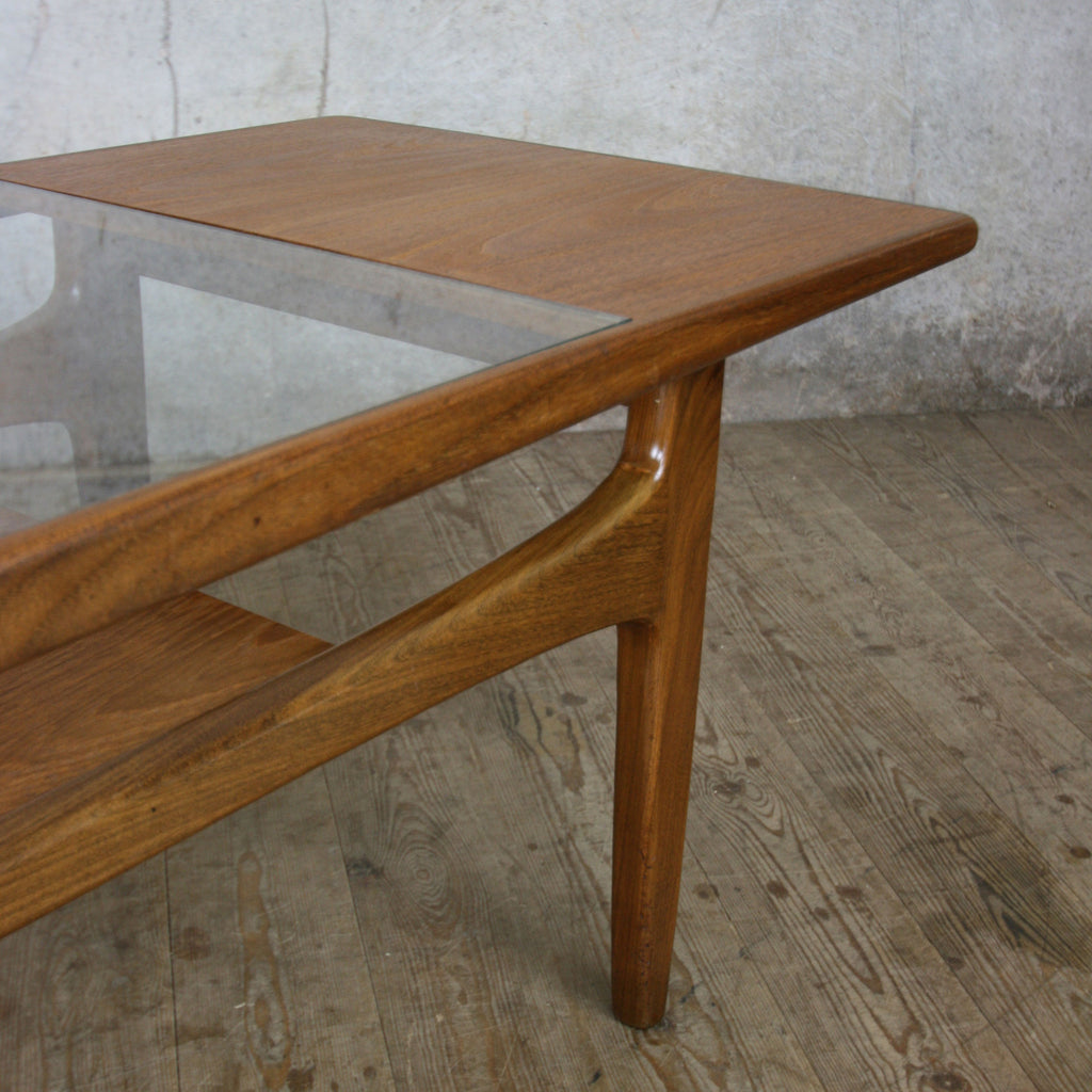Teak Burger Coffee Table: Mid Century Teak G-Plan Coffee Table