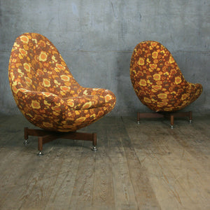 Mid Century Swivel Egg Chair (prop use) - Pair Available