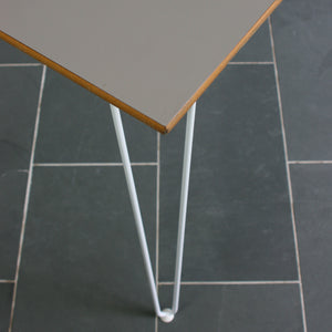 Reclaimed Hairpin Desk / Table - Grey Top/White Legs
