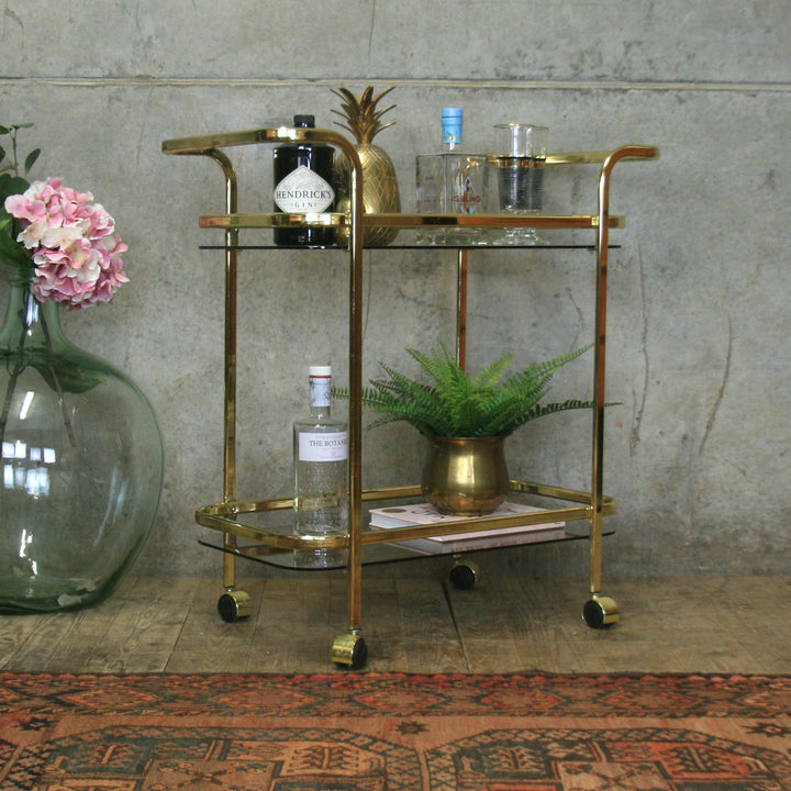 vintage_hollywood_regency_gold_drinks_trolley_bar_cart