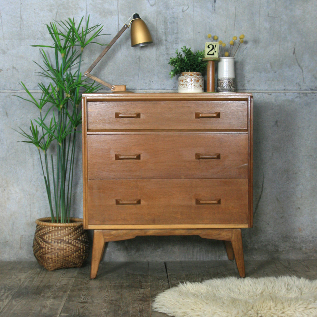 Mid Century G Plan Oak Chest Of Drawers Bureau