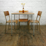 Vintage Industrial School Cafe Stacking Tables