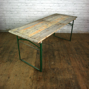 Vintage Industrial Folding Cafe Beer Tables