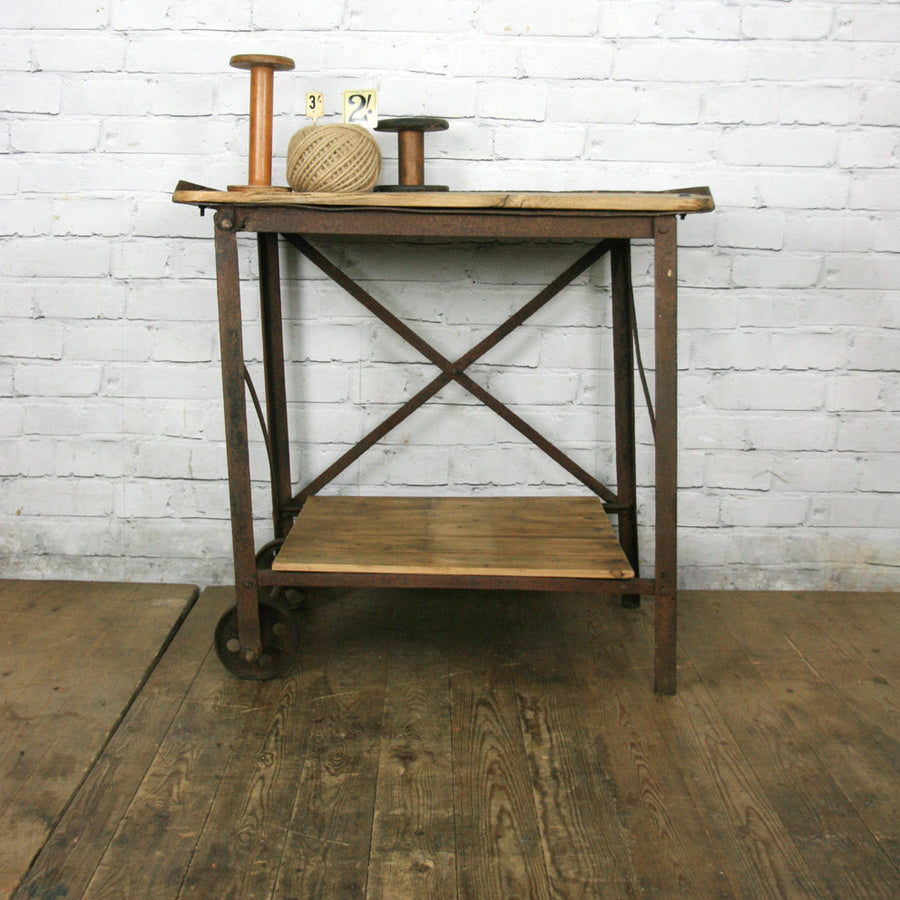 Vintage Industrial Factory Trolley - Kitchen/Retail Display