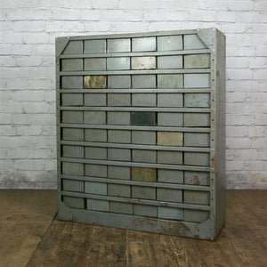 Vintage Industrial Metal Drawers Storage - Retail / Restaurant Display