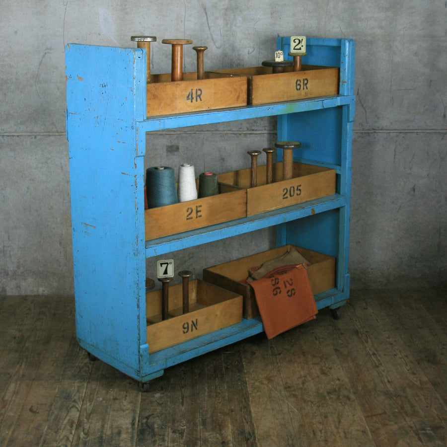 Vintage Industrial Factory Storage Shelves - Retail Display
