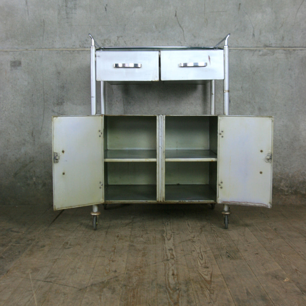 vintage industrial trolley bathroom cabinet 13224