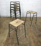 Vintage School Laboratory Stacking Stools