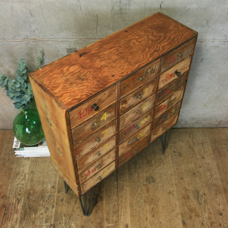 vintage_industrial_rustic_cabinet_filing_craft_tool_drawers_cabinet