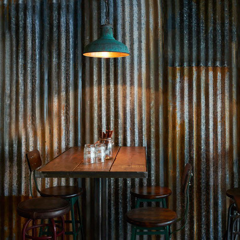 X1 Vintage Industrial Rustic Corrugated Metal Cladding Sheet