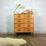 Vintage School Chest of Drawers x 1a (pair available)