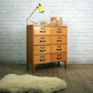 Vintage School Chest of Drawers x 1b (pair available)
