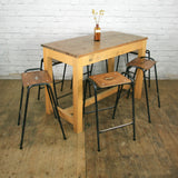 Vintage Industrial Iroko School Laboratory Table