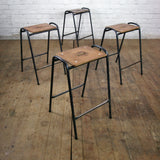 Reclaimed School Lab Stacking Stools x 1 (100+ available)