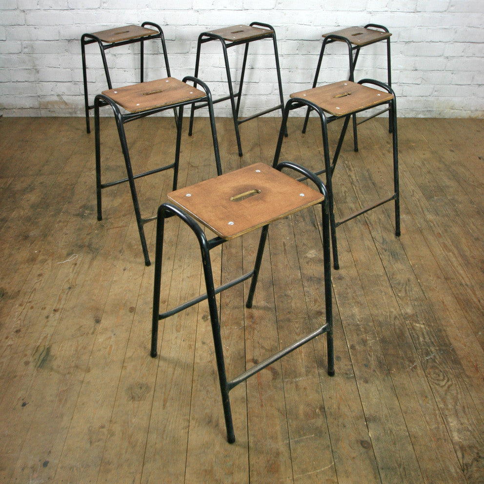 Brilliant Furniture Stool Vintage Wooden School Lab Stools Ohmycode Cat Beatyapartments Chair Design Images Beatyapartmentscom