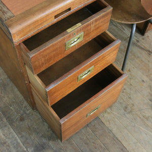 Double Sided Vintage Industrial Teak Partners Desk