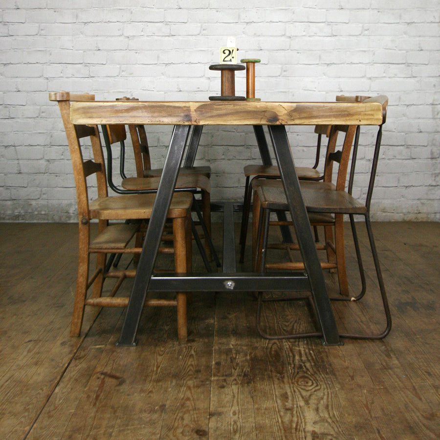 'The Steel A-Frame' Dining Table - 1 in stock ready for delivery