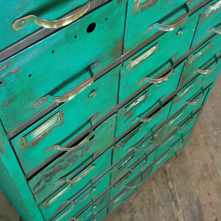 Vintage Industrial Metal Cabinet - Retail / Restaurant Display