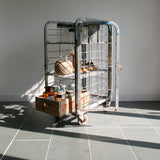 Vintage Industrial Steel Cage Trolley - Shop/Retail Display