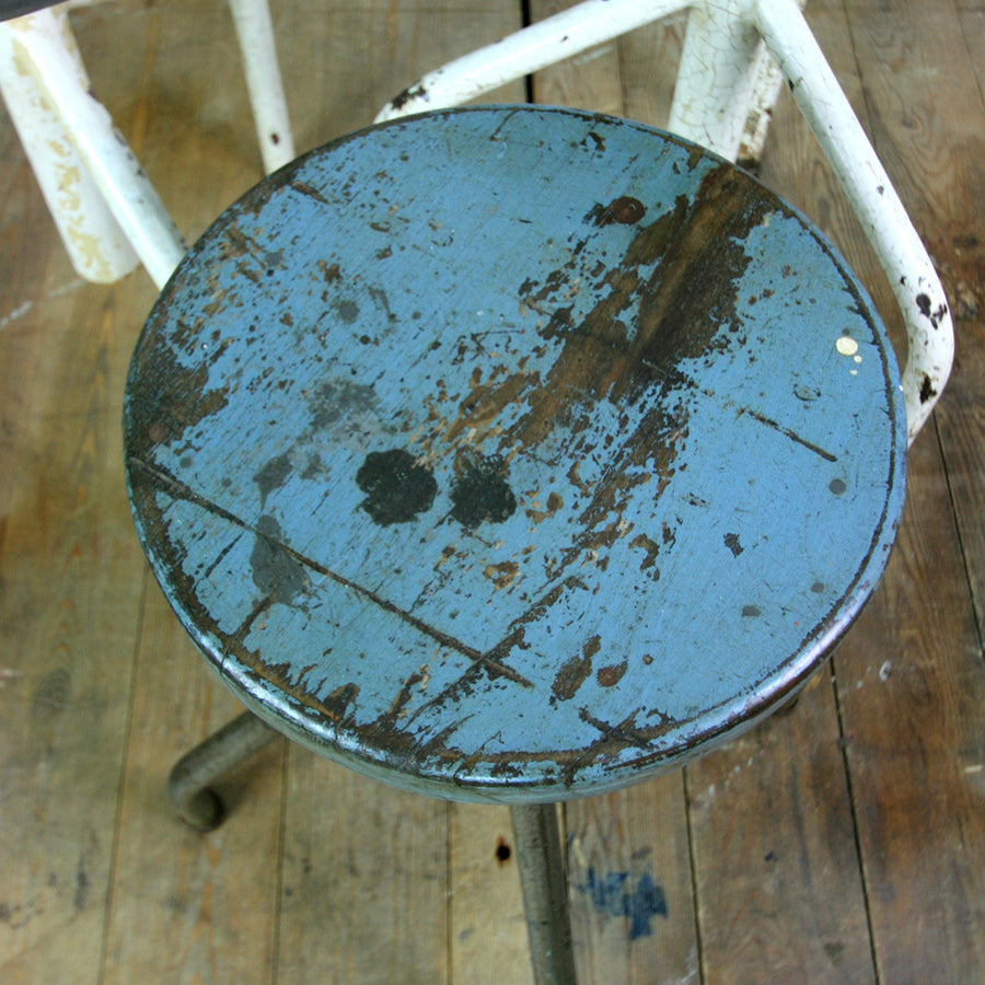 X3 Vintage Industrial Steel Medical Stools