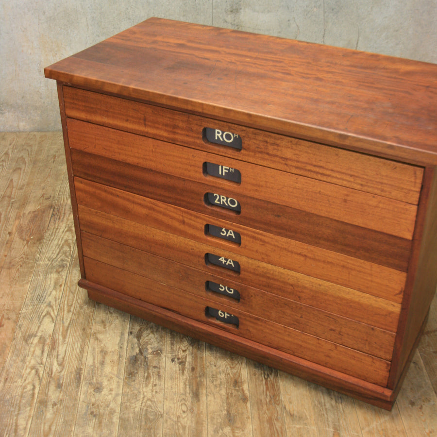 Vintage School Drawers / Plan Chest #0918b