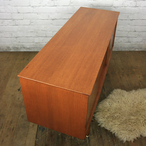 Small Mid Century Teak Sideboard/Media Cabinet