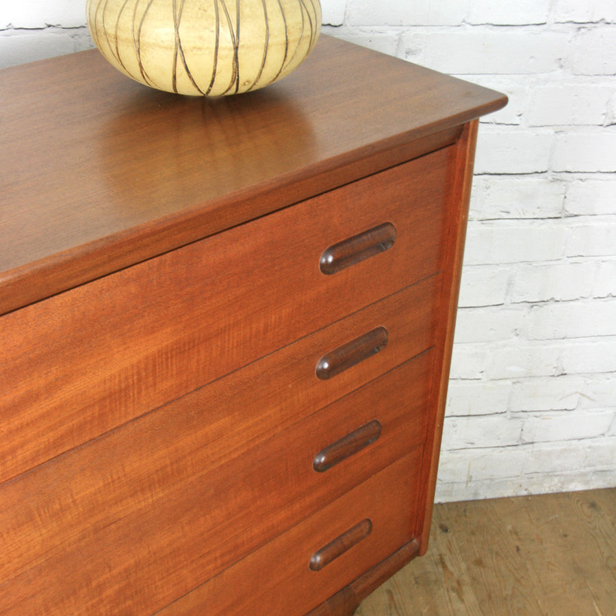 Mid Century Younger Codan Teak Chest of Drawers