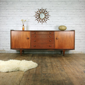 Vintage Younger Mid Century Teak & Afromosia Sideboard