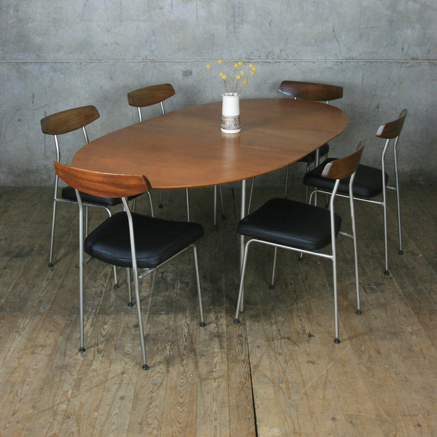 Mid Century Stag 'S' Range Table & 6 Chairs