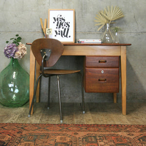 Mid Century Kandya School Teachers Desk #2103c2