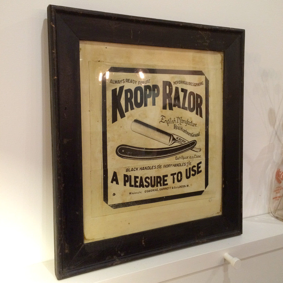 Vintage Kropp Razor Barber Shop Picture