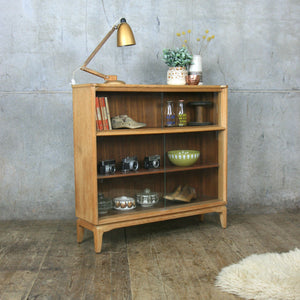 Mid Century Oak Glazed Storage / Shop Display Cabinet