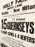Vintage Letterpress Typographic Farm Auction Poster
