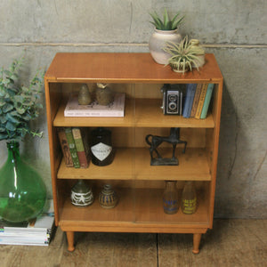 vintage_meredew_oak_display_cabinet_bookcase