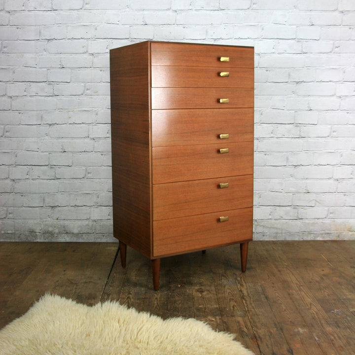 Vintage Meredew Tallboy Chest of Drawers