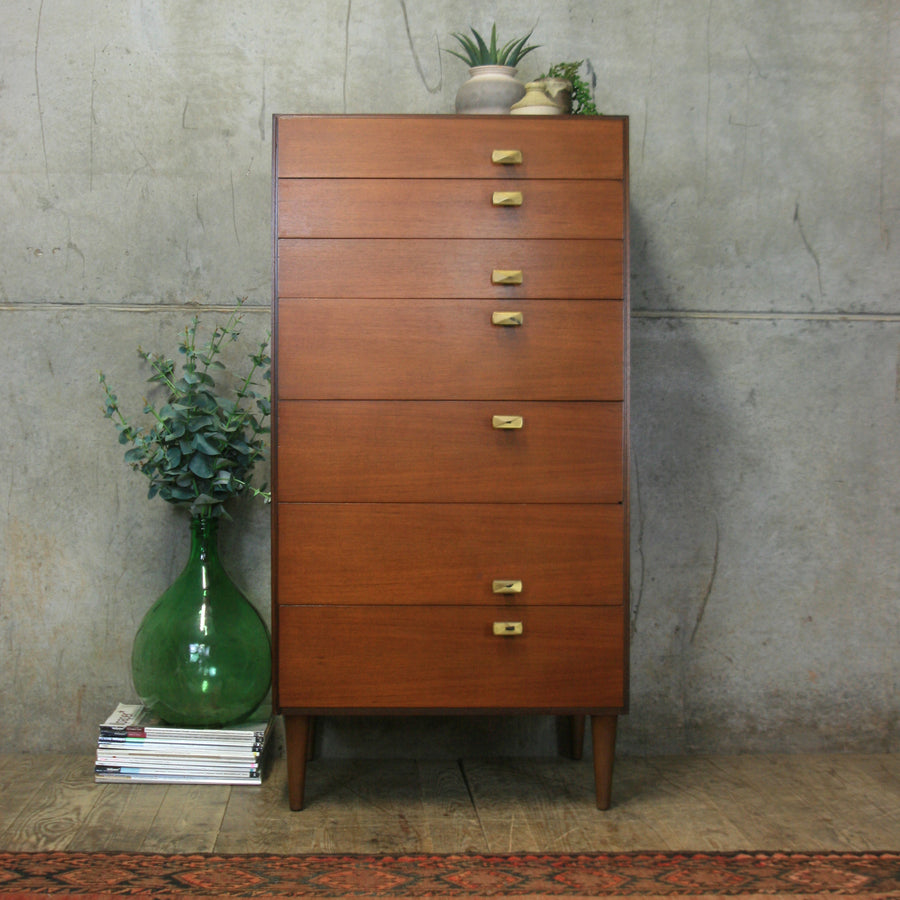 vintage_meredew_walnut_tallboy_chest_of_drawers