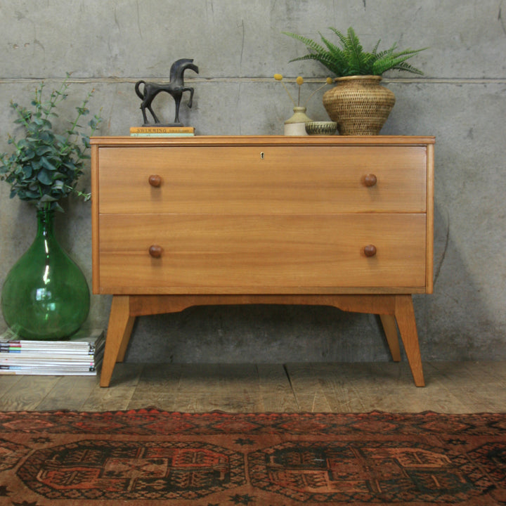 vintage_mid-century_walnut_chest_of_drawers