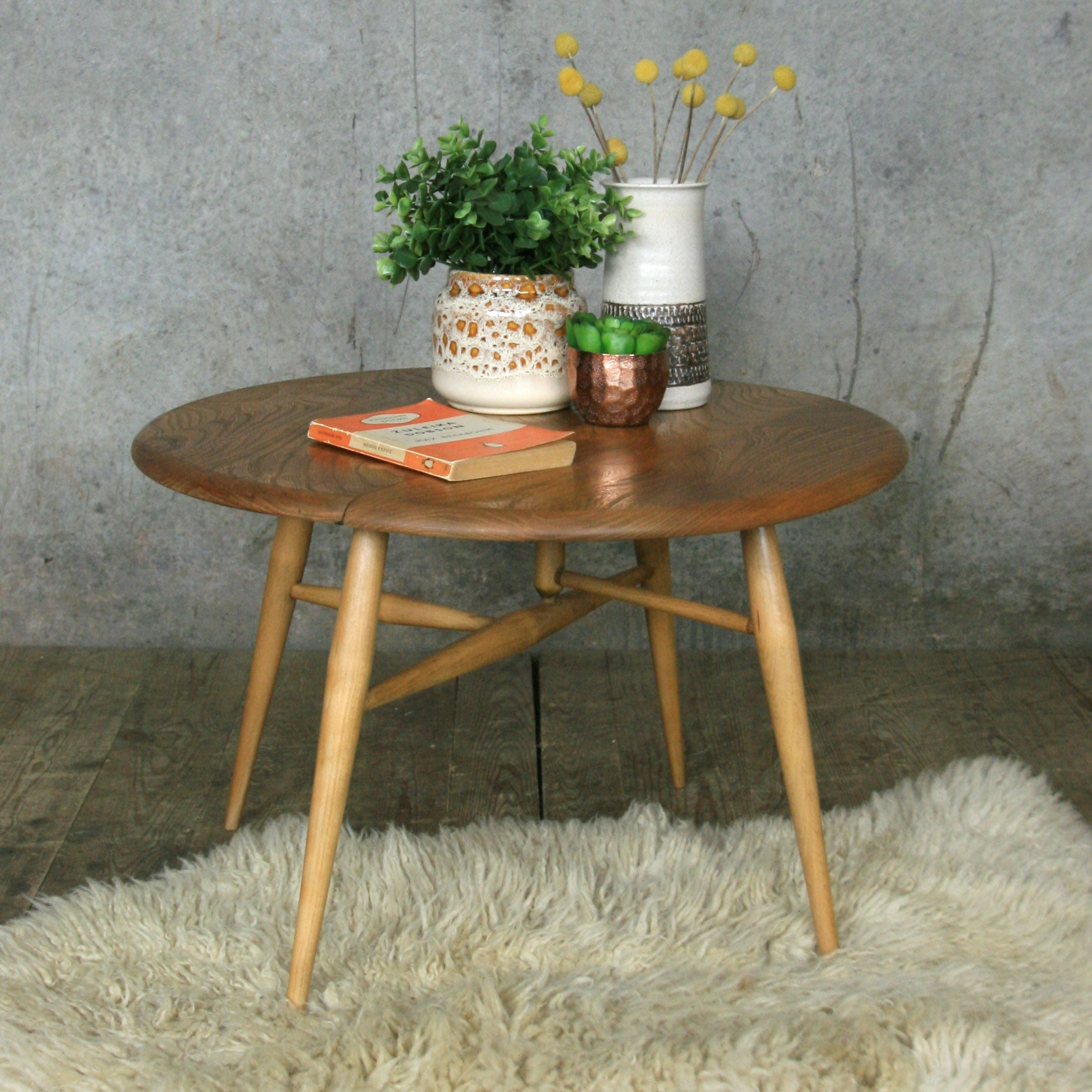 Vintage Ercol Coffee Tables For Sale: Ercol Mid Century Drop Leaf Coffee Table
