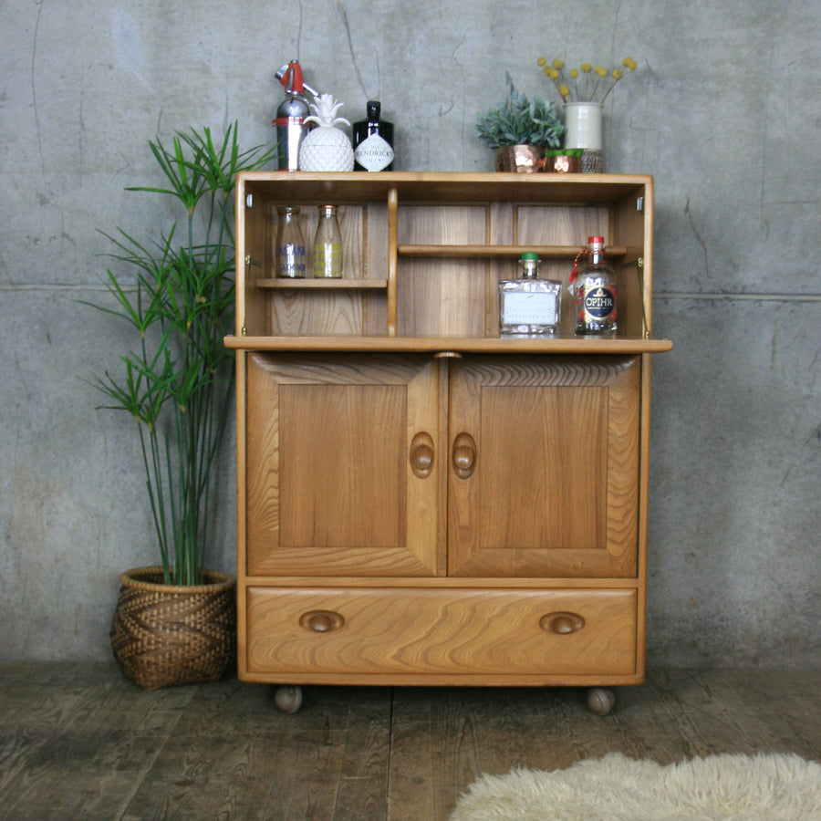 Mid Century Ercol Windsor Drinks Cabinet